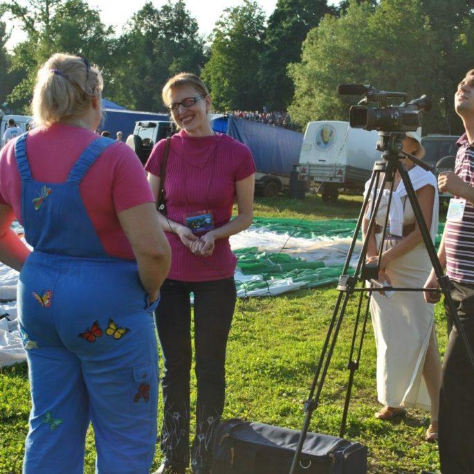 Екатерина Ларикова дает интервью