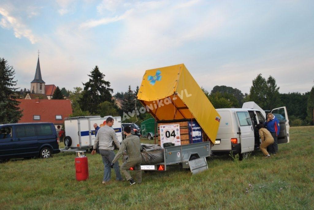 Оборудование и корзина для полета на воздушном шаре