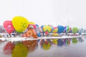 воздушные шары зимний слет