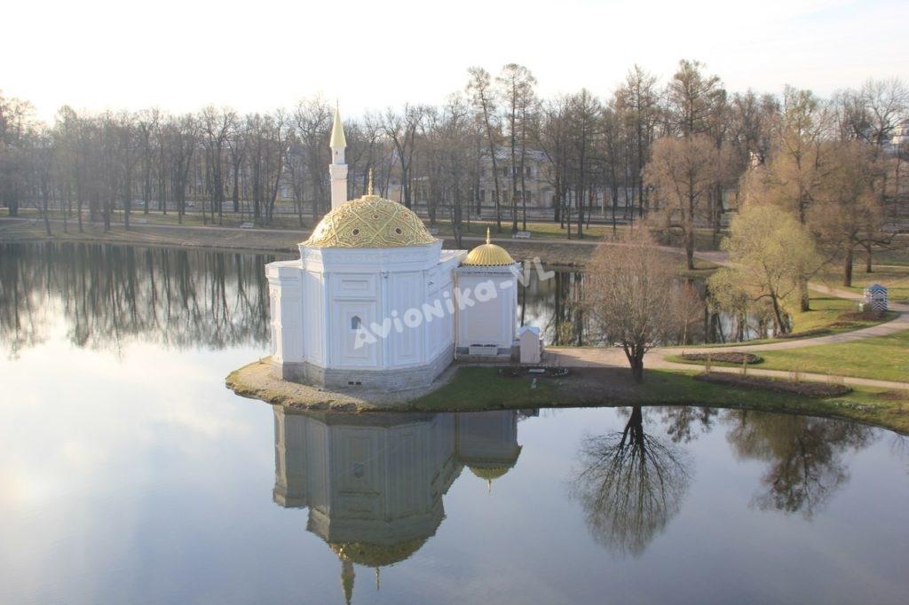 Вид с воздушного шара в Пушкине