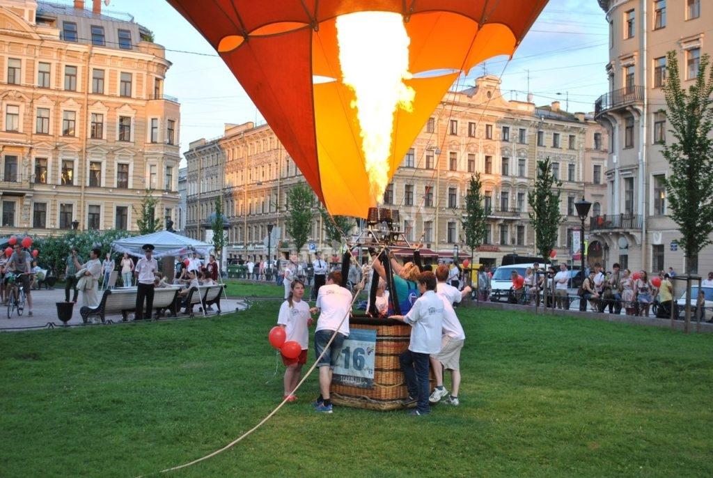 Воздушный шар в центре Санкт-Петербурга от Авионики-ВЛ