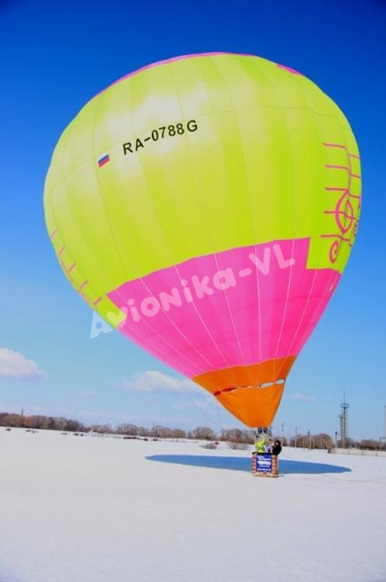 Воздушный шар от Авионики-ВЛ зимой