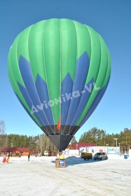 Подъе воздушного шара зимой от Авионики-ВЛ