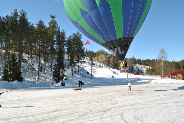 отрыв от земли на воздушном шаре