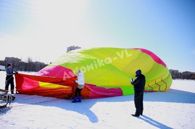 Зимняя прогулка на воздушном шаре