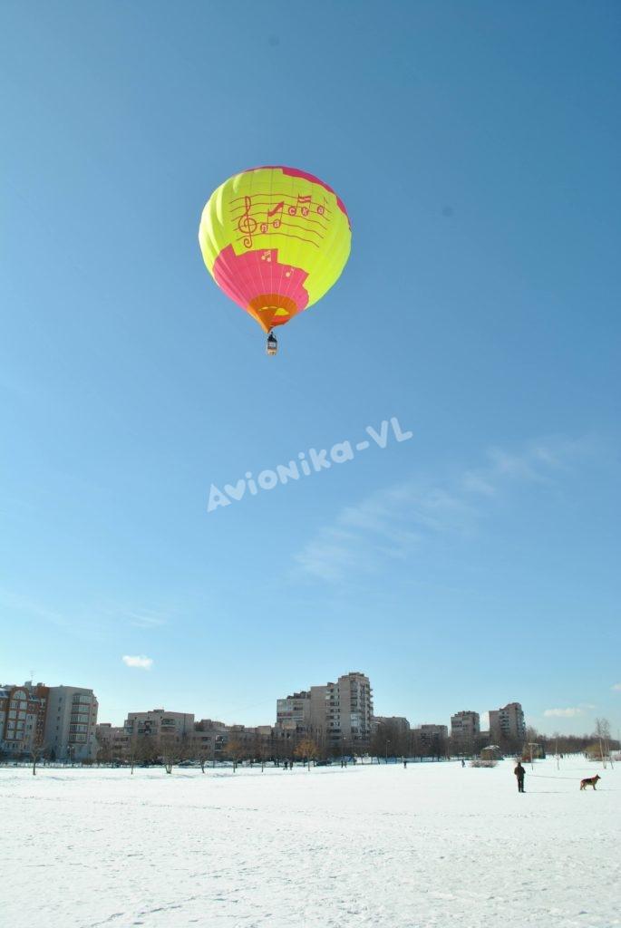 Воздушный шар Авионика-ВЛ в полете