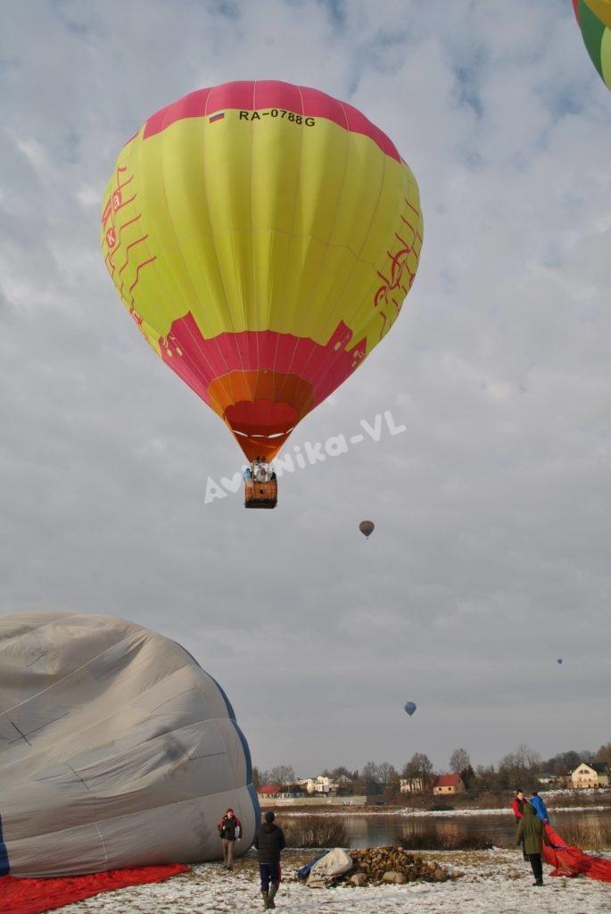 Полет на воздушном шаре на троих человек