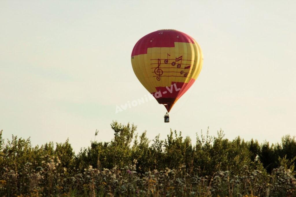 Полет на воздушном шаре над полем