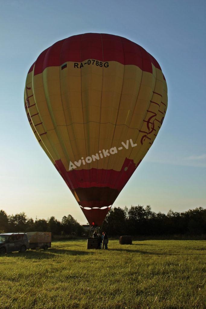 Полет на воздушном шаре летом