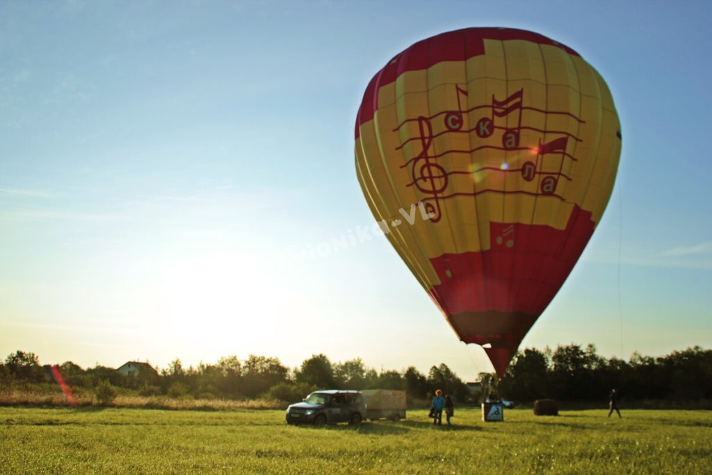 Старт полета на воздушном шаре