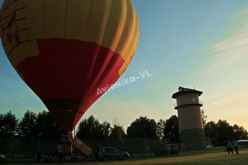 Начало полета на воздушном шаре