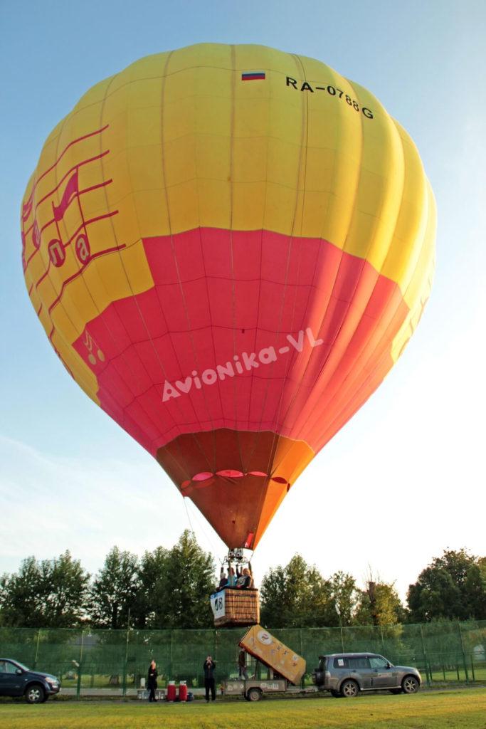 Первые секунды полета на воздушном шаре